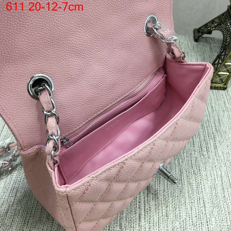 Chanel-Classic-flap-caviar-pink-10