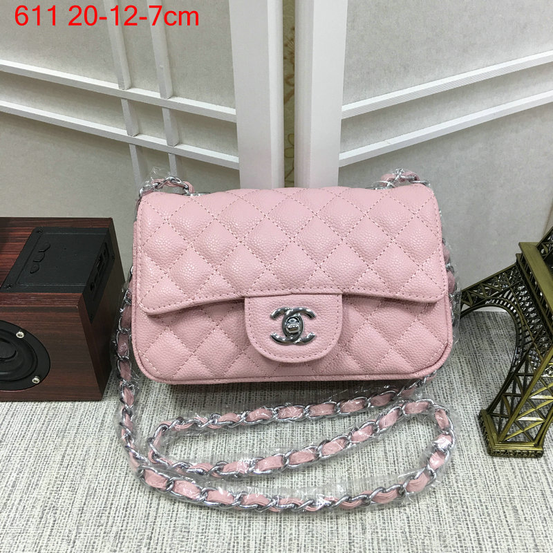 Chanel-Classic-flap-caviar-pink-4