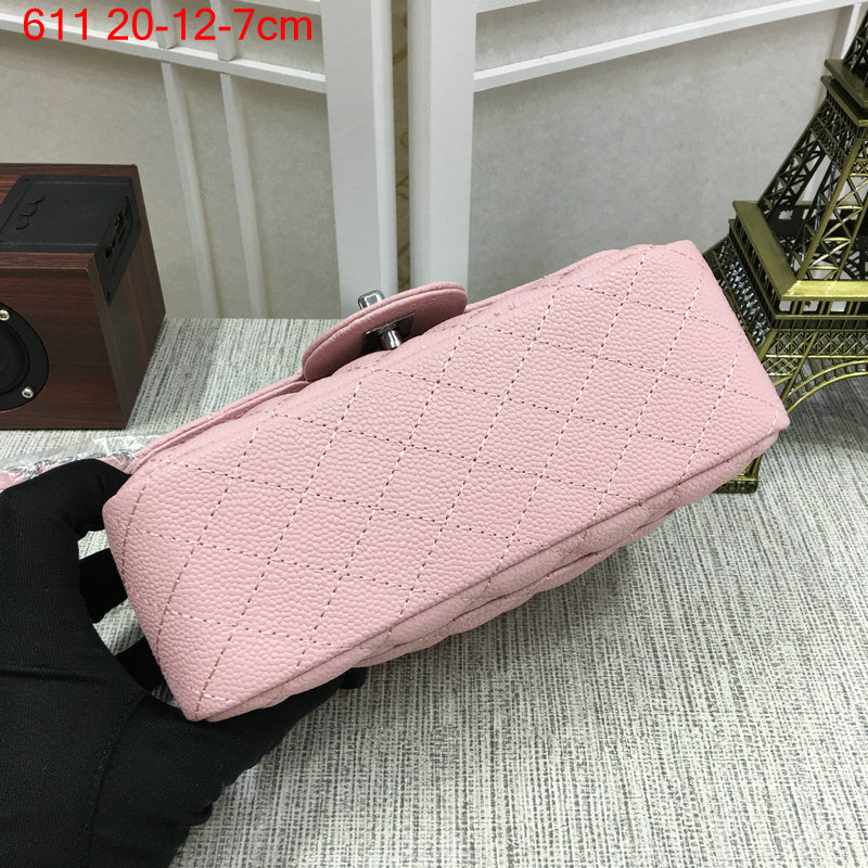 Chanel-Classic-flap-caviar-pink-7