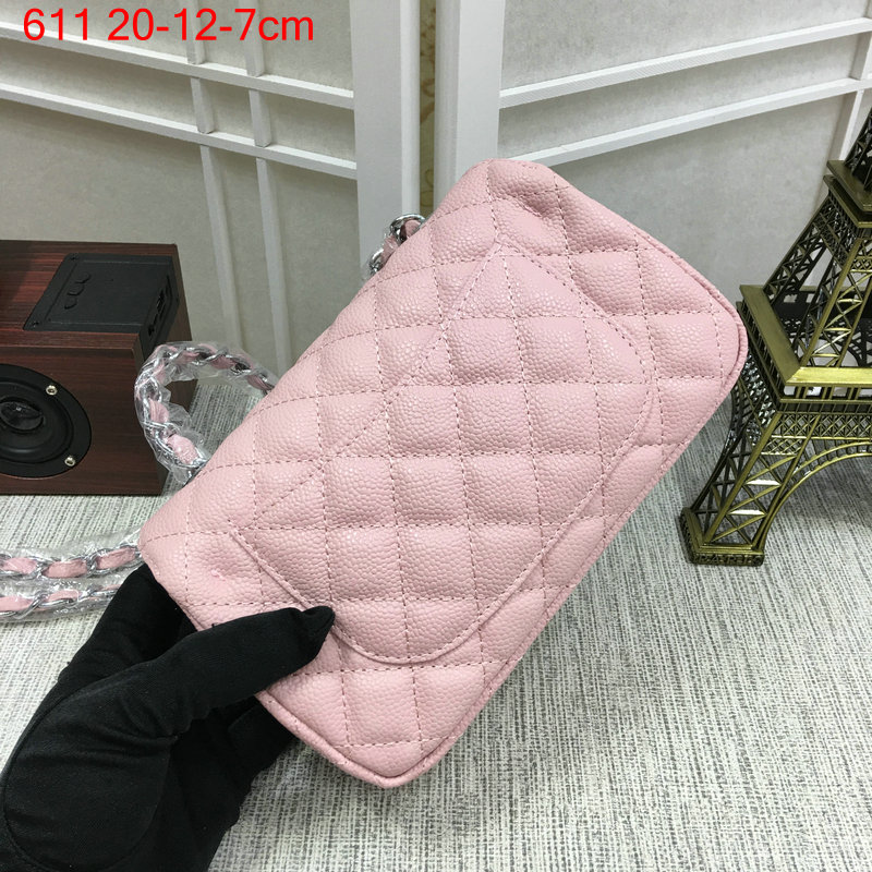Chanel-Classic-flap-caviar-pink-8
