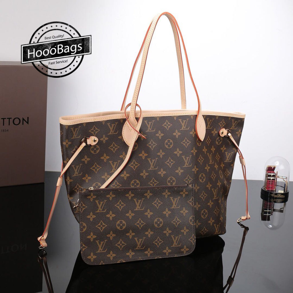 Louis Vuitton Neverfull MM M40995 Monogram Handbag for Women
