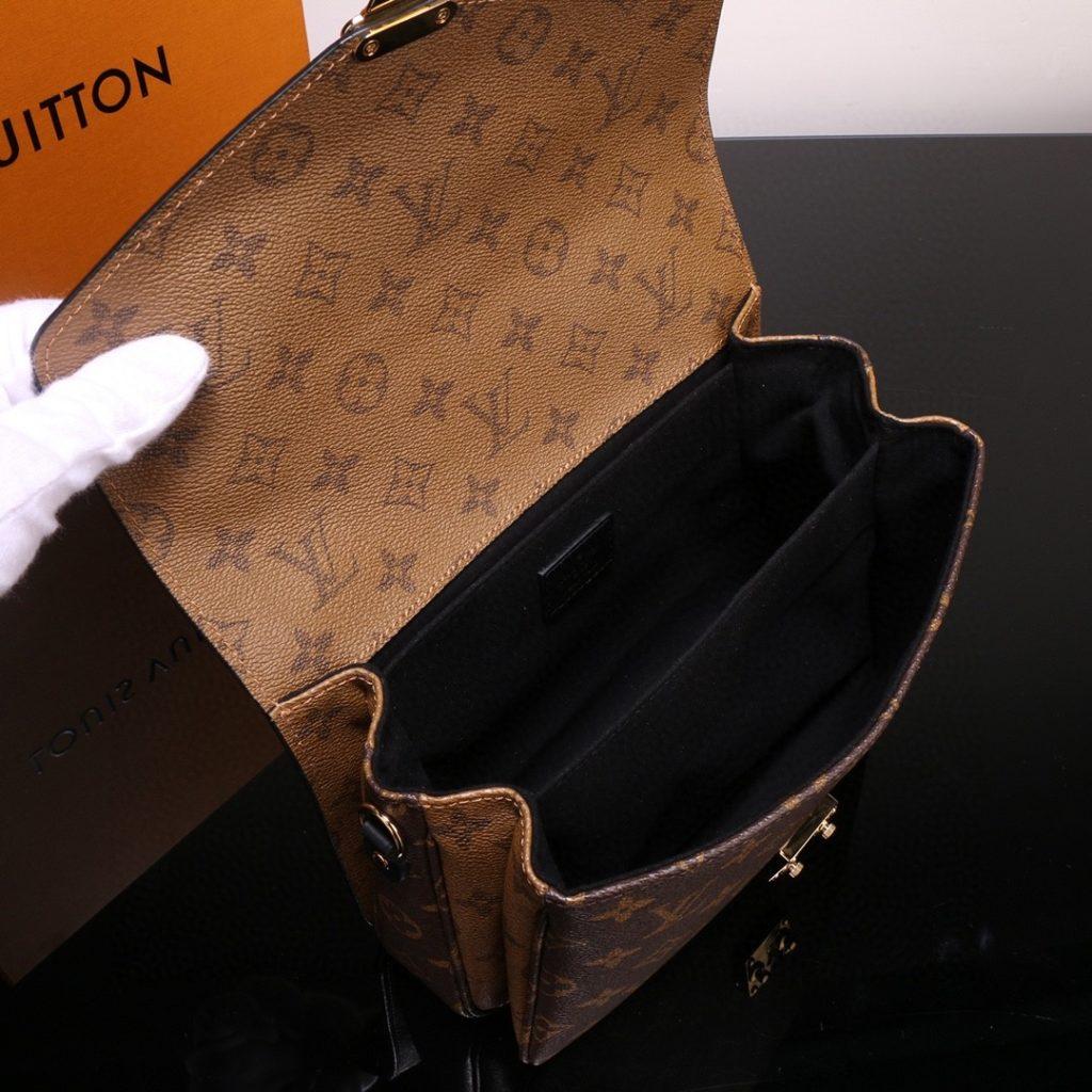 Louis Vuitton M41465 Pochette Metis Monogram Reverse Canvas