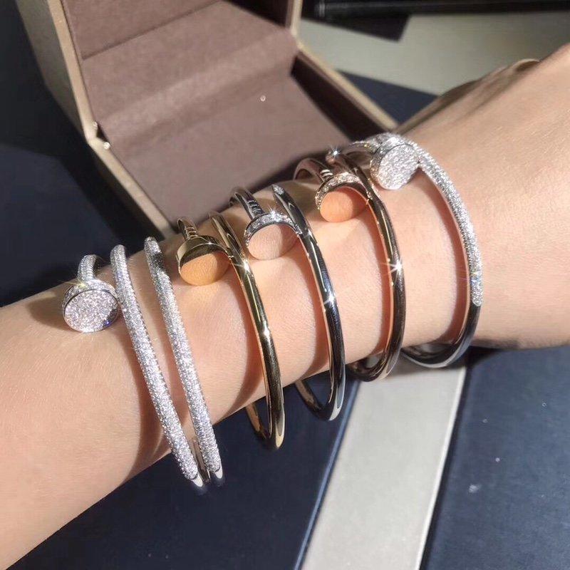 Wearing Stack Cartier Juste un Clou bracelet diamonds