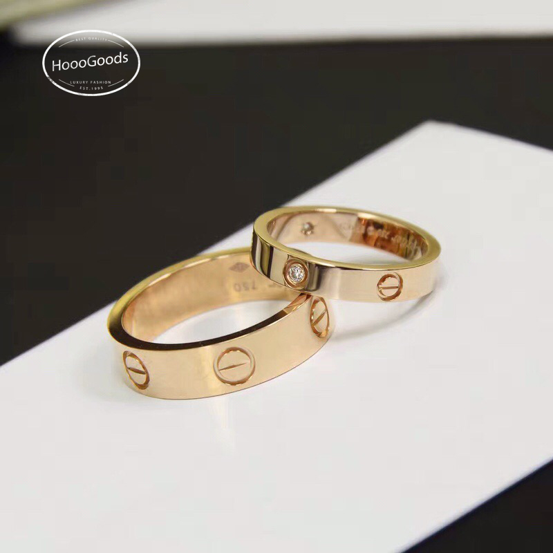 Cartier love ring thin vs thick in rose gold