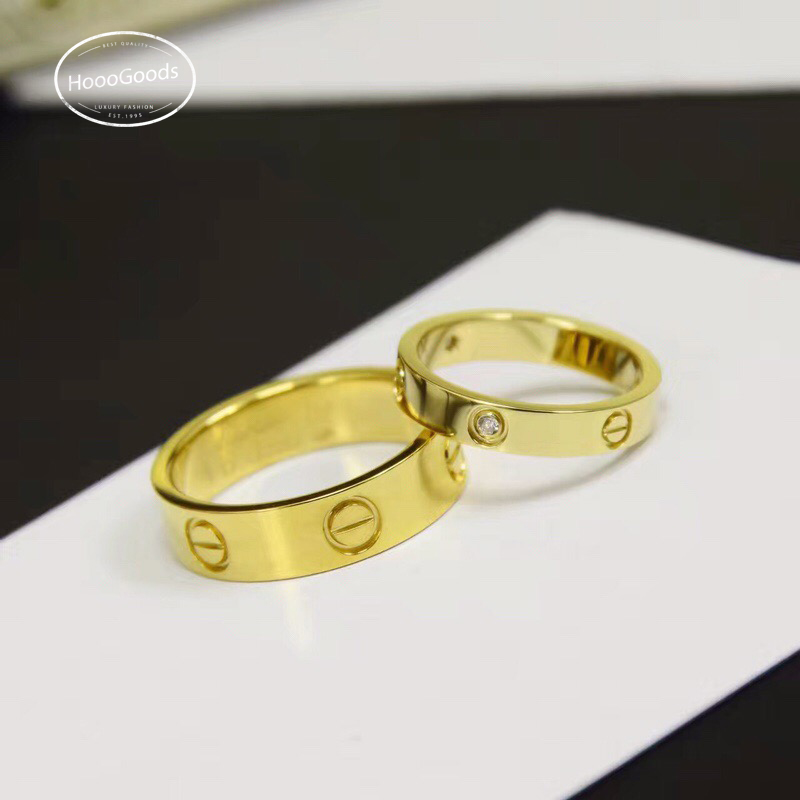 yellow gold Cartier love ring thin vs thick