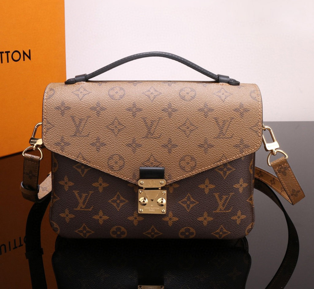 LOUIS VUITTON Pochette Metis Monogram Reverse Canvas M44876