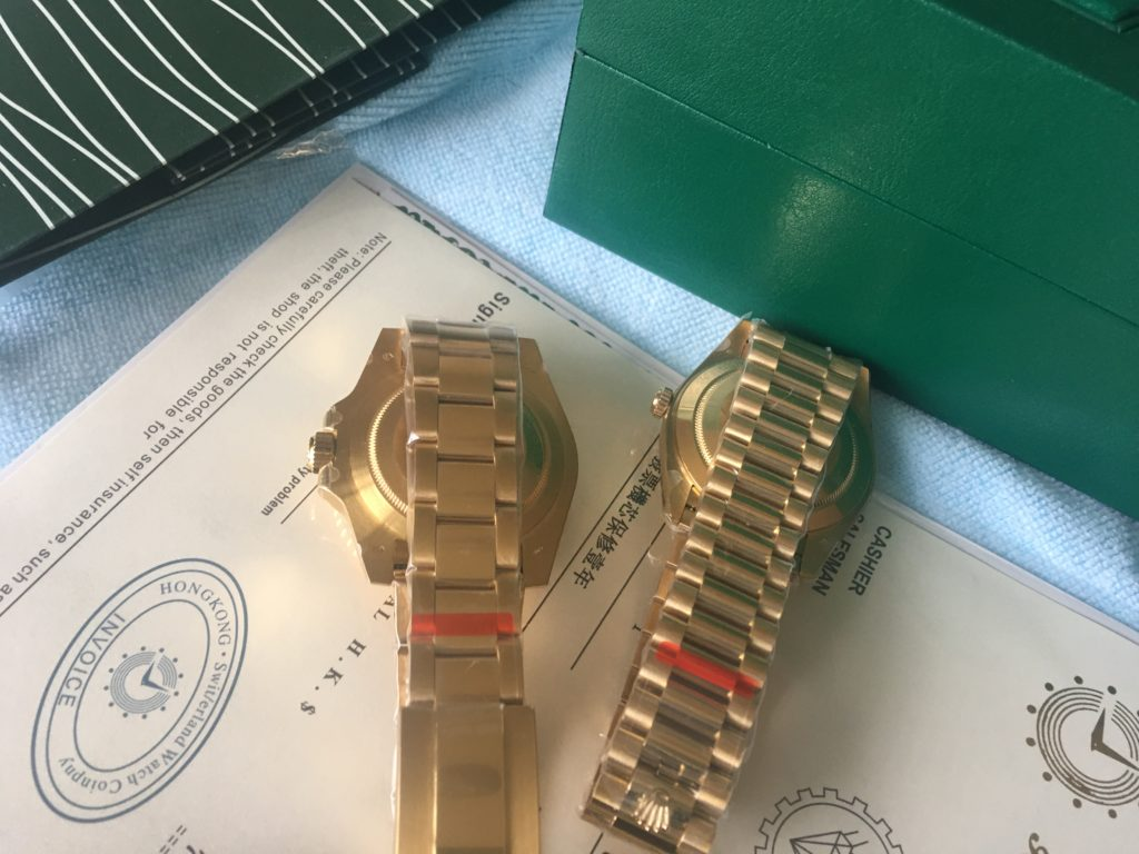 Rolex Day-Date 40 Watch Yellow Gold Black dial Oyster Perpetual Classic Watch