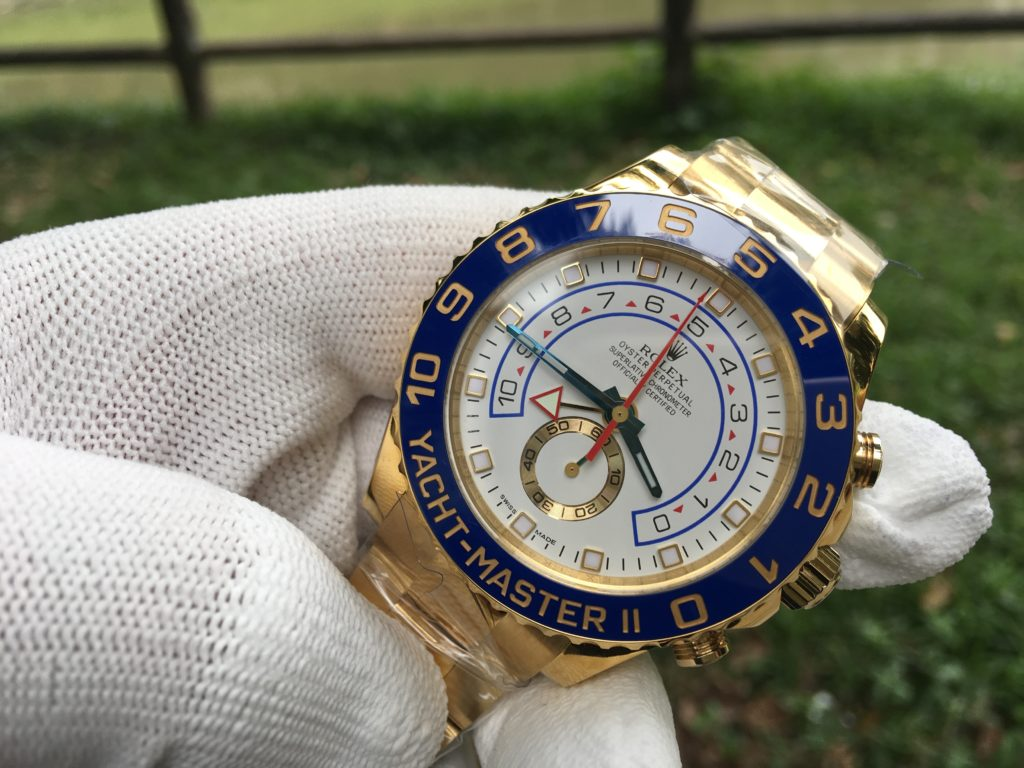 Rolex YACHT-MASTER II Watch 44 mm Oyster yellow gold 116688