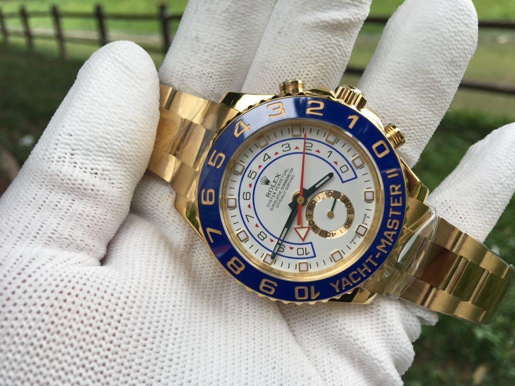 Rolex Yacht-Master II Watch: 18 ct yellow gold - M116688-0002
