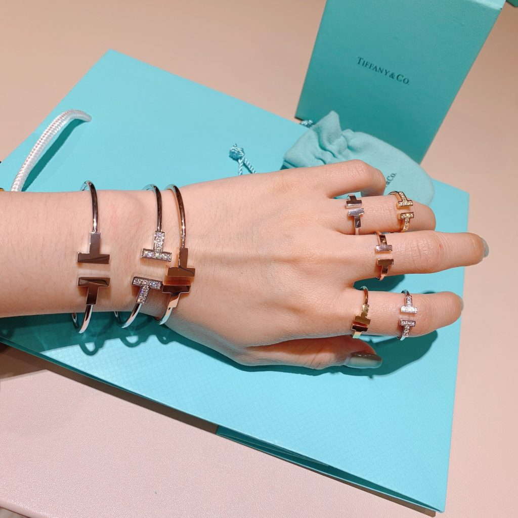 Stacking Tiffany T Wire Bracelets & Rings
