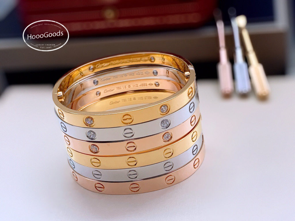 Regular/Classic. Cartier LOVE Bracelet Collection: white, pink, yellow gold. diamonds and without diamonds