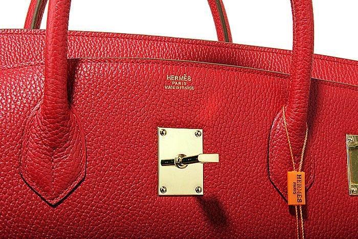 red Hermes birkin 50