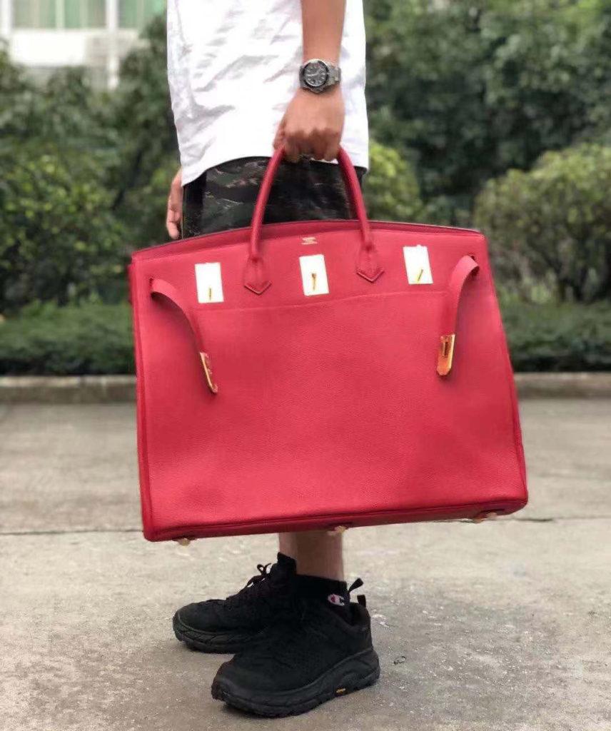 Hermes birkin red togo 50cm
