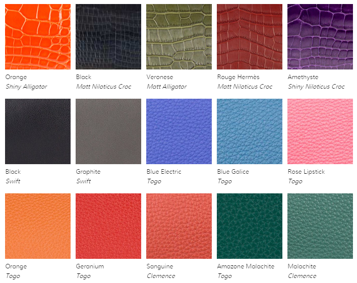 Hermes Color Code Chart
