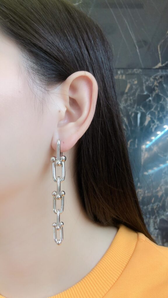 Tiffany HardWear Graduated Link Earrings