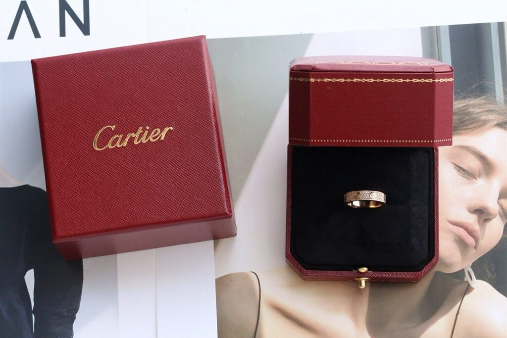 Cartier Love Ring Pave Diamonds rose gold