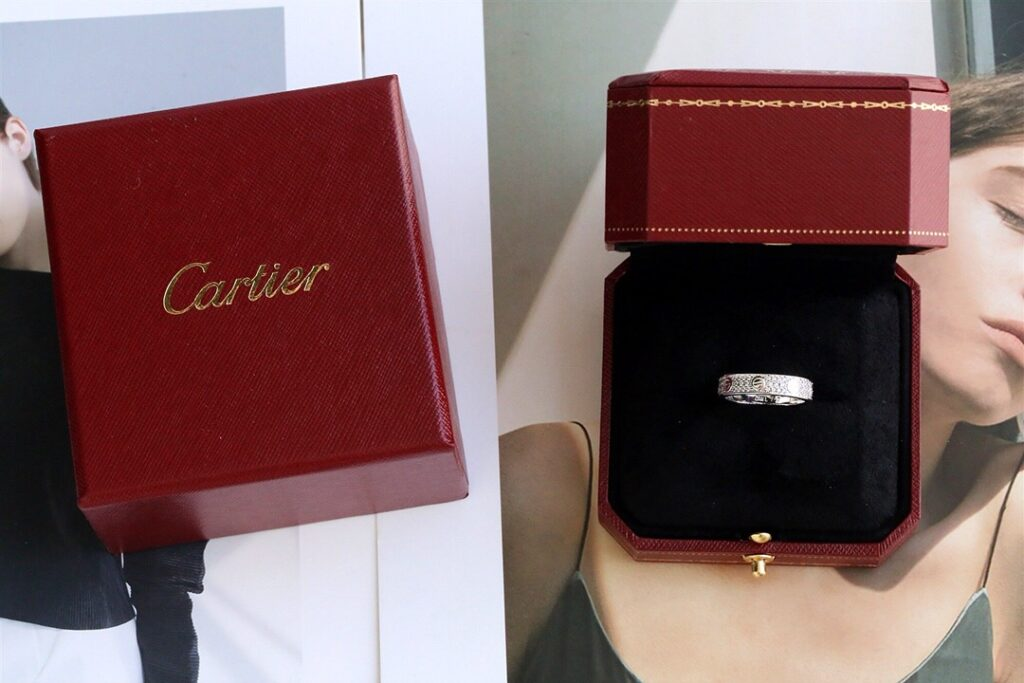 Cartier Love Ring Pave Diamonds white gold