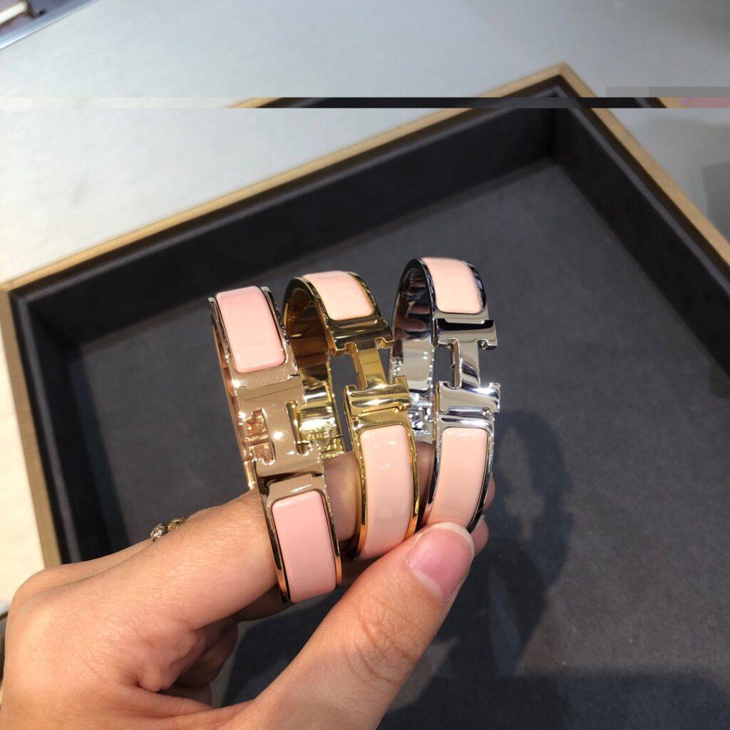 Hermes Clic H bracelet pink