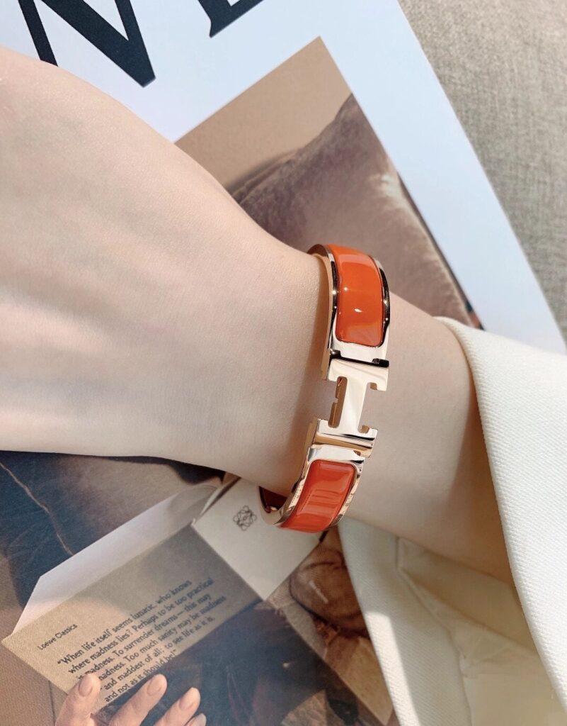 Hermes Clic H bracelet orange