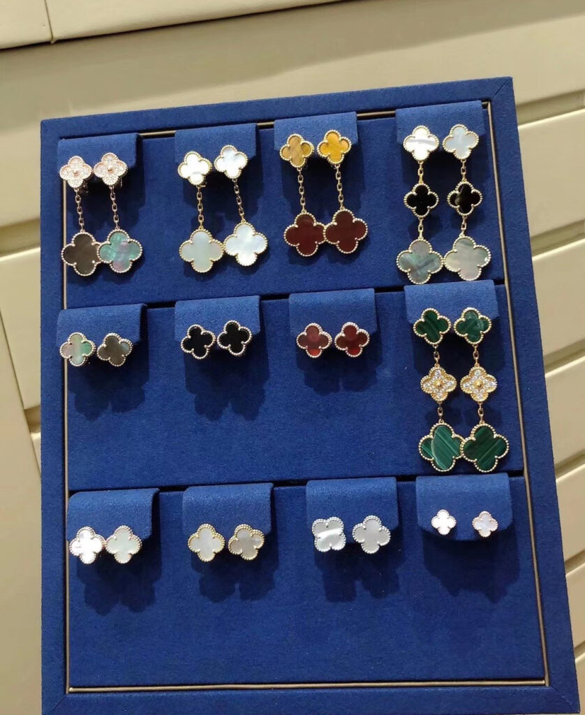 VCA Magic and Vintage alhambra earrings
