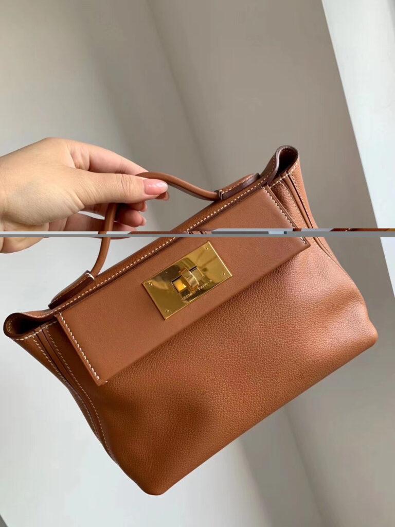 Hermes Mini 24/24 gold bag