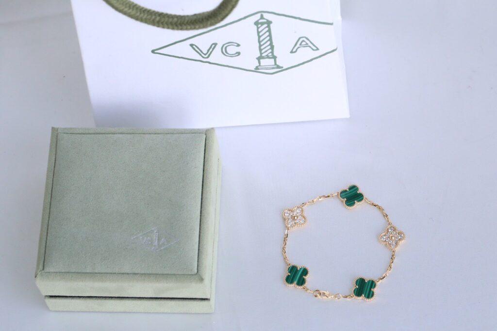 VCA Alhambra bracelet and box packaing