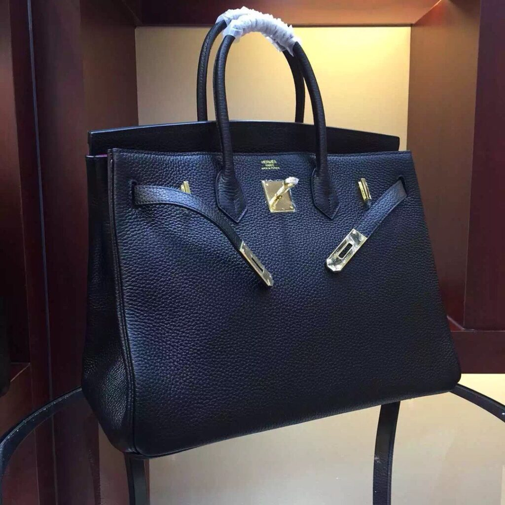Hermes Custom-Made Birkin 40 black gold hardware