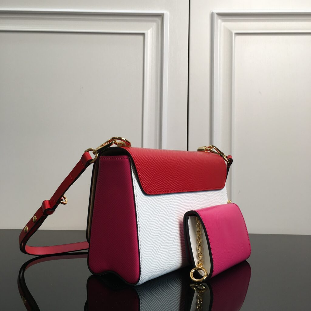 M55909 Louis Vuitton TWIST PM AND TWISTY Red/Pink/White