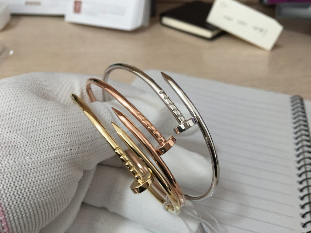 Cartier Juste Un Clou Bracelet Small Yellow Gold, Pink Gold & White Gold