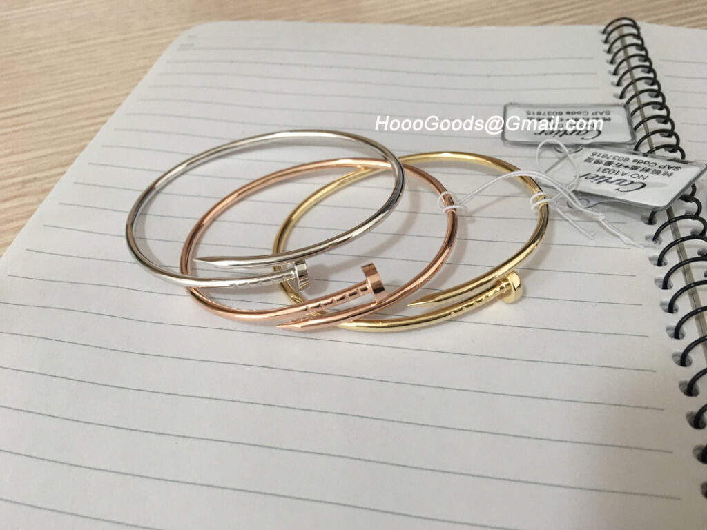Cartier Juste Un Clou Bracelet SM Yellow Gold, Rose Gold and White Gold