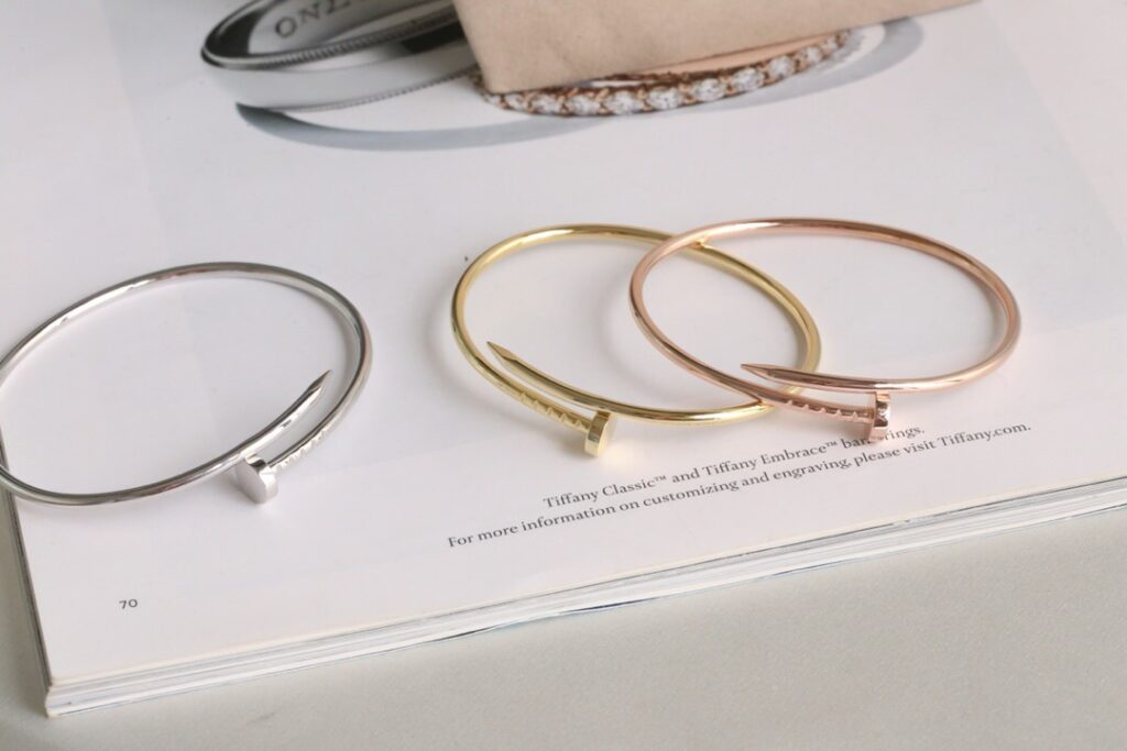 Cartier Juste un Clou bracelet, Thin/Small model, Width: 2.5mm.