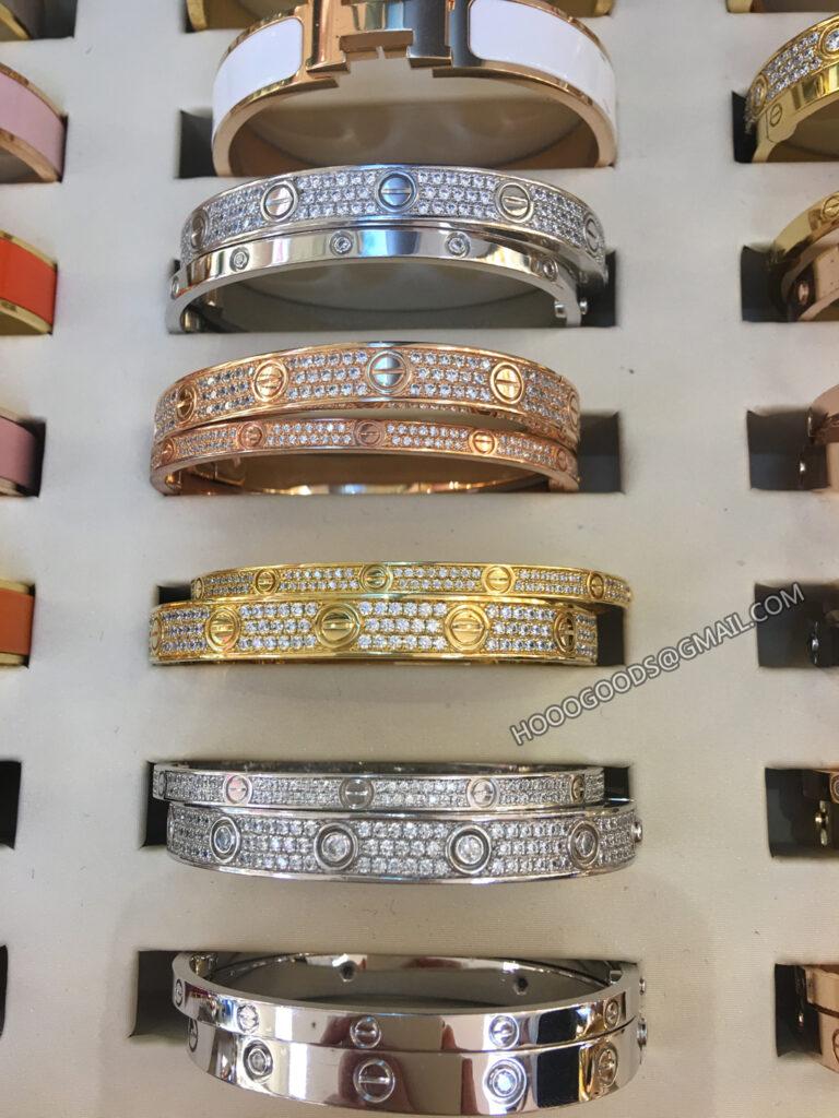 Thin VS Thick Cartier love bracelet pave diamonds