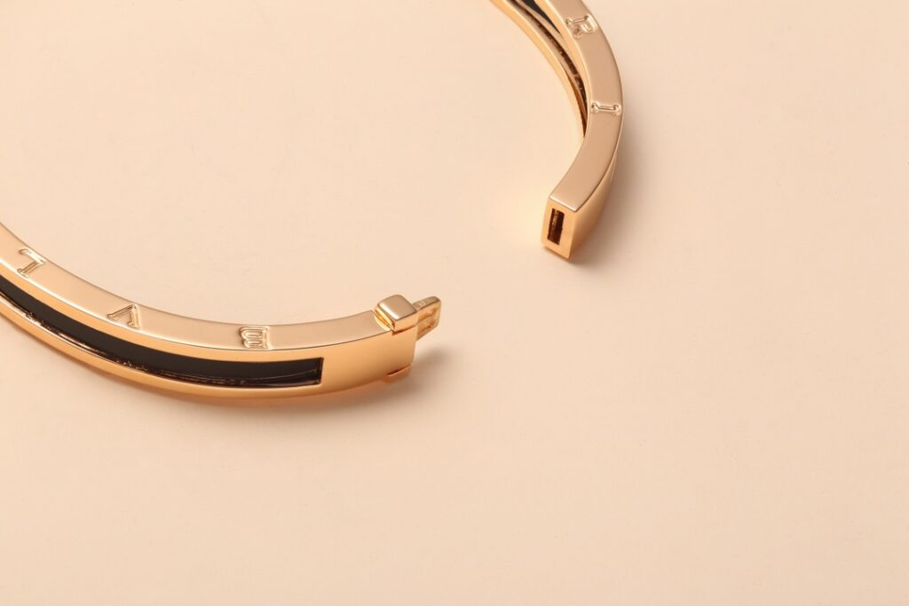 BVLGARI B.zero1 bracelet rose gold with matte black ceramic