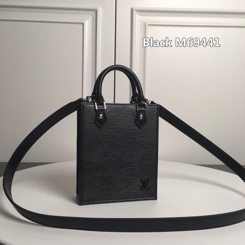 Black M69441 LV BAG Louis Vuitton PETIT SAC PLAT