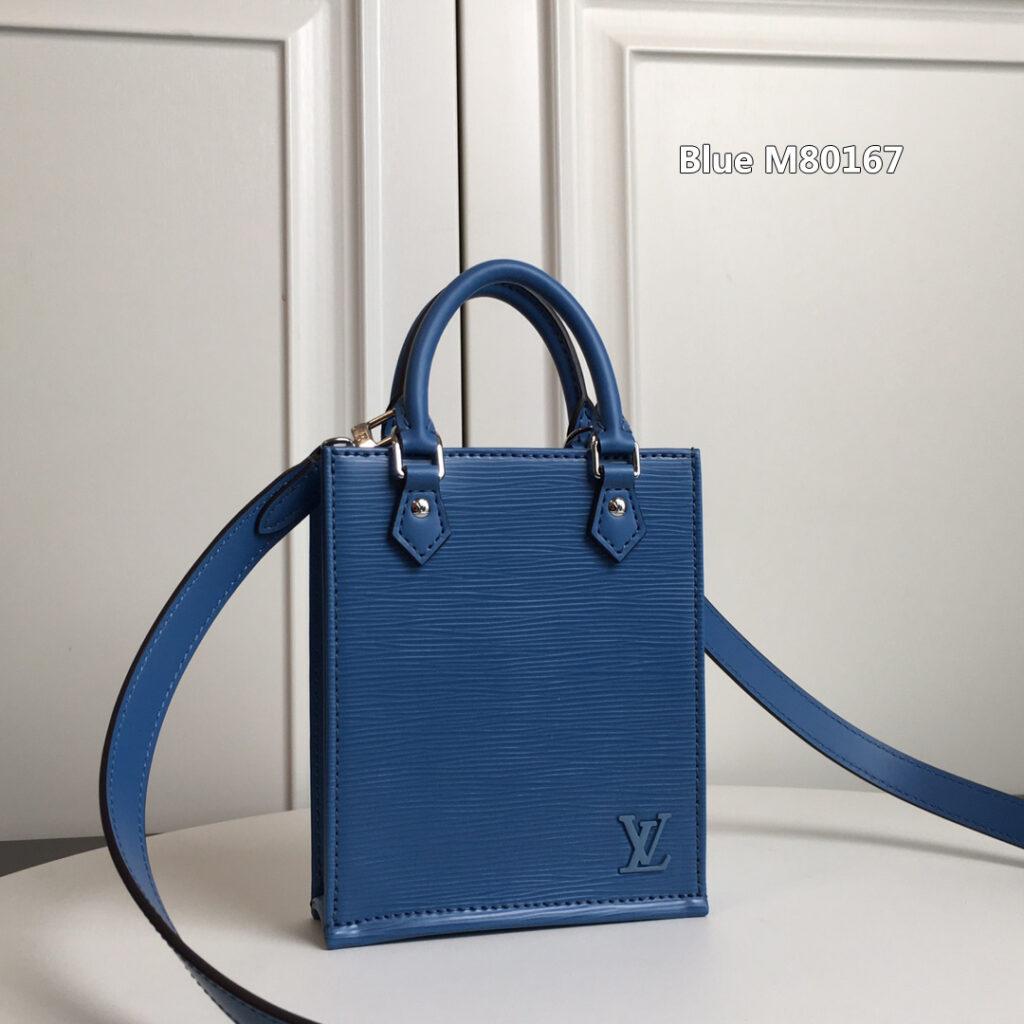 LV BAG PETIT SAC PLAT Blue M80167